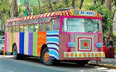 yarnbombing1 Found Art Crochet Artist Melissa Maddonni Haims