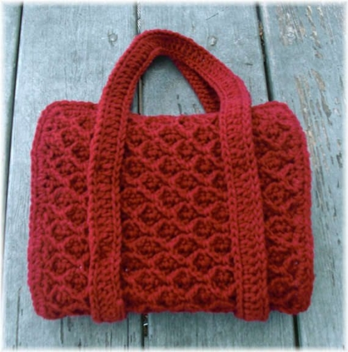 crochet book1 500x505 Etsy Crochet: Book Cover Tote