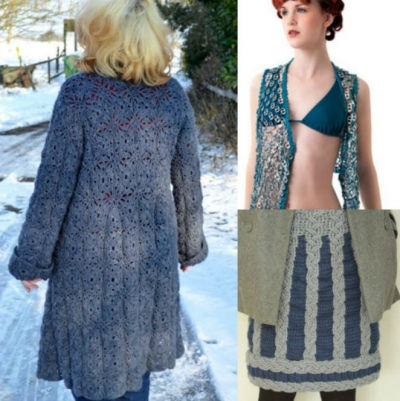 crochet coat vest skirt 400x401 625 Crochet Things to Inspire You!
