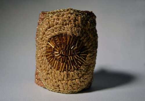 crochet cuff 500x350 Etsy Crochet: Beaded Crochet Cuff