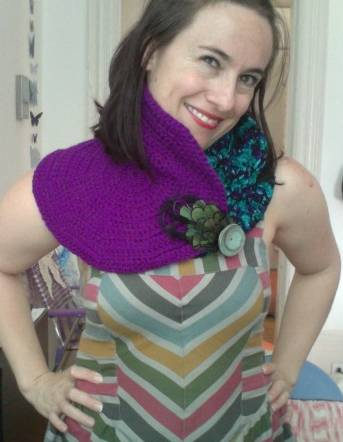 crochet8 My Crochet: Two Toned Convertible Cowl Capelets