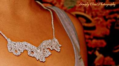 angel wings crochet necklace