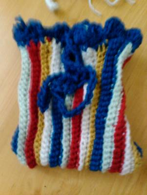colorful crochet bag Big Push in Year of Projects