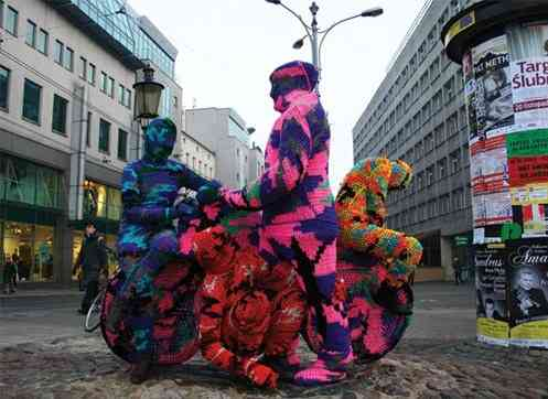 crochet art Olek Says Go Easy on Crochet Art Vandals
