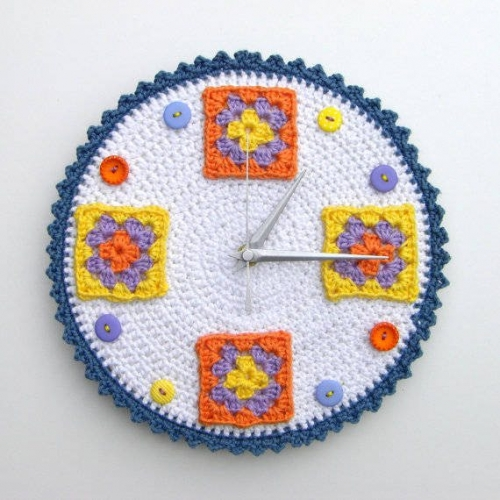 crochet clock 500x500 Enter To Win Gorgeous Crochet Clock