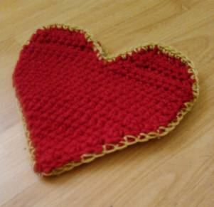 crochet heart bag Big Push in Year of Projects