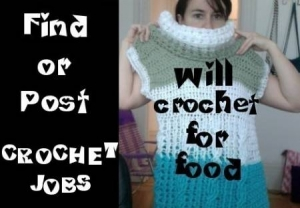 crochet jobs 300x208 Crochet Jobs, Ads and Goals in Kathryns Crochet Corner