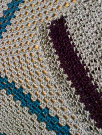 crochet square blanket My Crochet: Silk Bamboo Large Granny Blanket