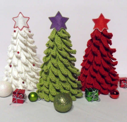 crochet trees 500x478 10 Wonderful Crochet Christmas Trees