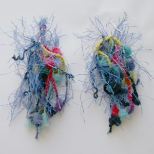 yarn earrings Crochet Artist and DJ Jennifer Xerri