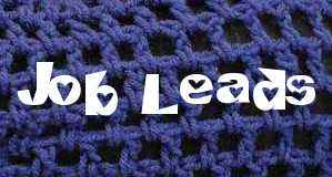 crochet job leads Crochet Job Links and Volunteer Opportunities 2/2/12