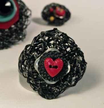 crochet plarn jewelry