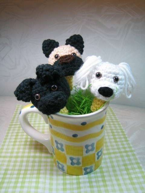 crochet puppies pattern Etsy Crochet Pattern: Puppy Pencil Toppers