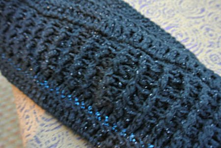 crochet scarf1 10 Word Yarn Review: Red Heart Shimmer