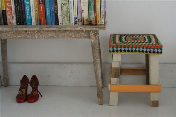 crochet stool
