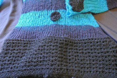 crochet sweater detail