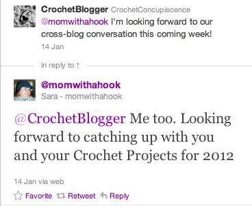 cross blog crochet conversation Cross Blog Crochet Conversation with Sara from Mom with a Hook (Day 4)