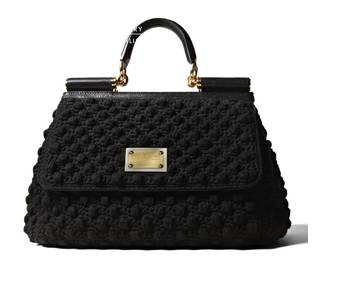 black crochet purse More Dolce & Gabbana Crochet Handbags