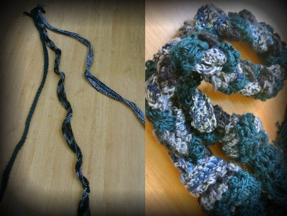 braided crochet scarves