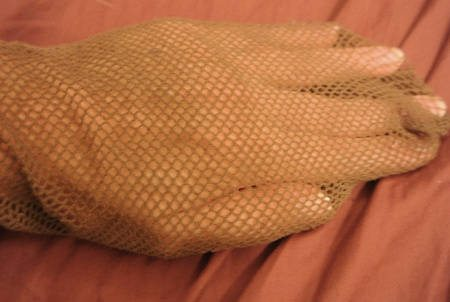 brown fishnets How to Upcycle Old Fishnets into Sexy Armwarmers