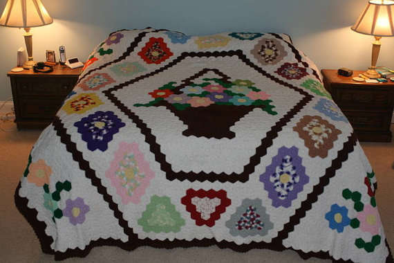 Crocheting Quilts : Etsy Crochet: King Size Crochet Quilt