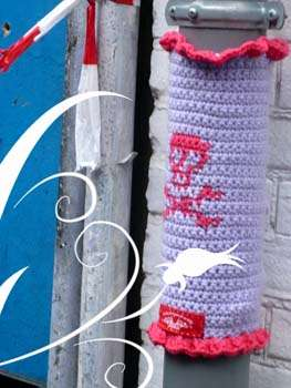 crochet arts Yarnbombing Group Art by Ladies Fancywork Society