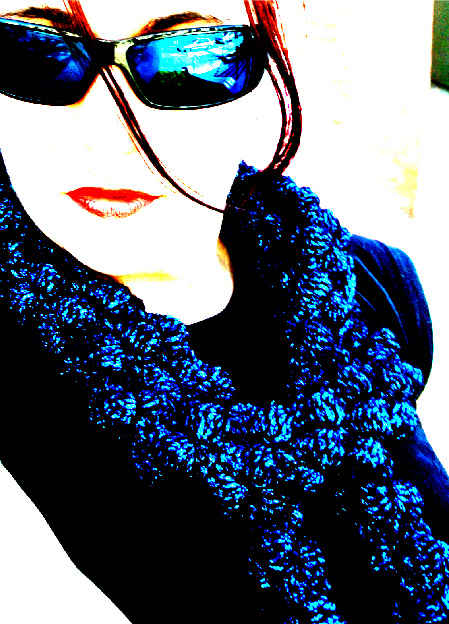 crochet bobble scarf Geek Chic: Hot Style in Glasses and Crochet