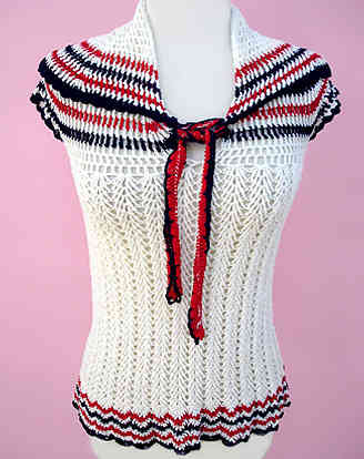 crochet bow sweater Designer Crochet Project: Elsa Schiaparelli