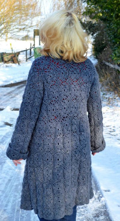 Crochet Jacket Pattern : This beautiful crochet coat is a pattern sold on Etsy by queenieamanda ...