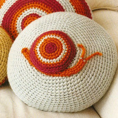 crochet critter cushions