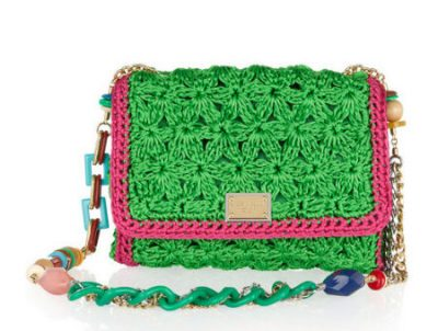 crochet designer bag 400x302 More Dolce & Gabbana Crochet Handbags