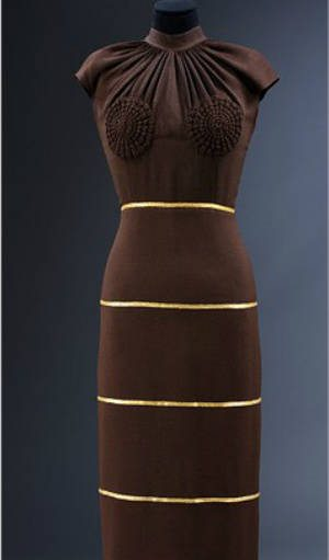 crochet detail dress Designer Crochet Project: Elsa Schiaparelli