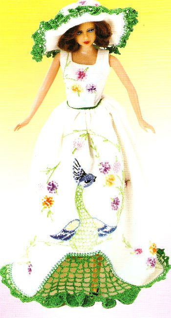 crochet doll dress Fun Friday Find: Crochet In Hankie Couture