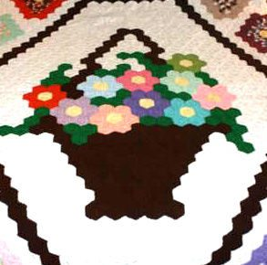 crochet flower basket Etsy Crochet: King Size Crochet Quilt