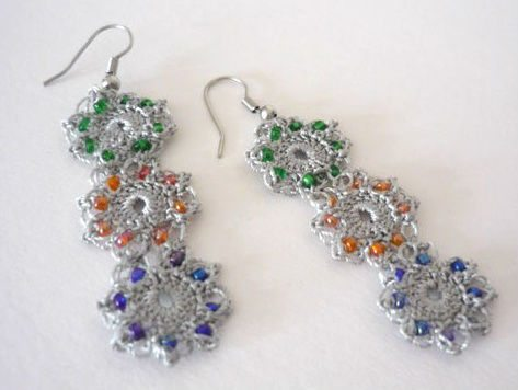 Post image for Etsy Crochet: Dangly Crochet Earrings
