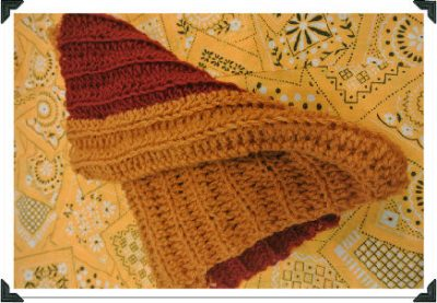 crochet neckwarmer2 400x277 My Recent Crochet: Gloves, Neckwarmer, Fringe