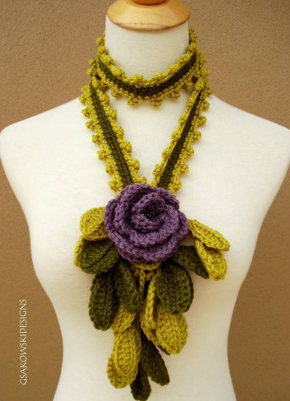 What To Crochet : crochet scarf lariat 400x552 Etsy Crochet Lariat Scarf Crochet Scarves ...