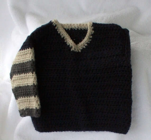crochet striped sweater 500x462 Oscar Nominated Crochet