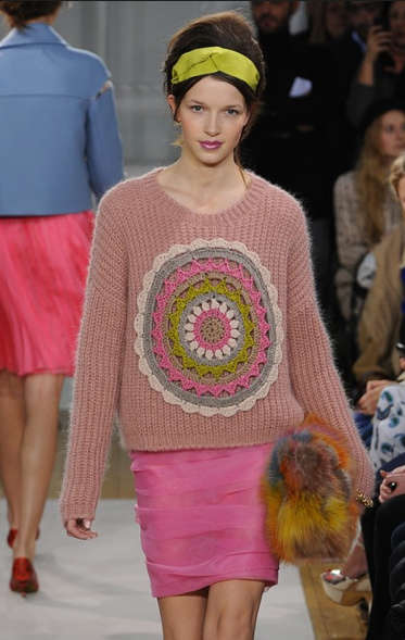 crochet sweater1 Designer Crochet: The 50 Famous Fashion Designers Project