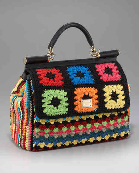 Designer Crochet Handbags : Think that last bag was pricey? This designer crochet bag by D&G was ...