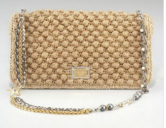 designer crochet bag1 More Dolce & Gabbana Crochet Handbags