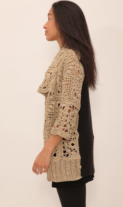 designer crochet sweater