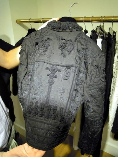 embroidered designer jacket 400x533 Designer Crochet Project: Dries Van Noten
