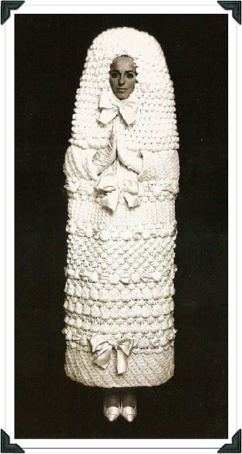 knit wedding dress ysl Crochet on the Runway: Picard Meets YSL