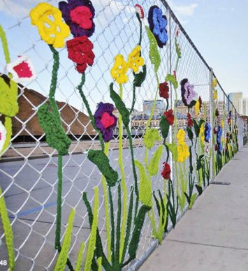 ladies fancywork society yarnbomb Inspiring Crochet Gardens: Projects and Ideas for the Home