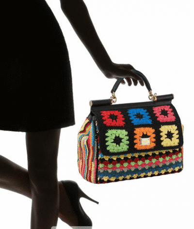 miss sicily crochet bag 400x471 What Would You Charge for this D&G Crochet Bag?