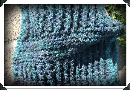 textured crochet scarf
