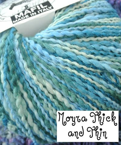 thick thin yarn Crochet Blog Week, New Book and More in Kathryns Crochet Corner