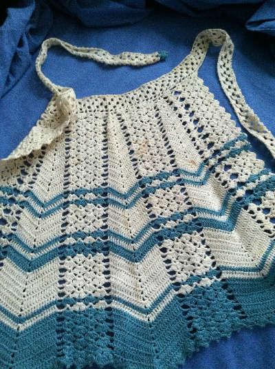 vintage crochet apron Oscar Nominated Crochet