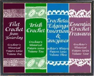 vintage crochet books